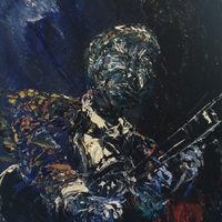 Jim klippel paints the Blues