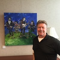 Artist James Klippel, Impressionist Music art, The Beatles, at Gwinnett Visitors