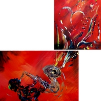 Notes of Color - Saxophone Painting