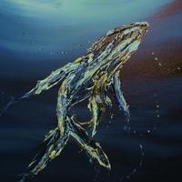 Marine mammal art by James H. Klippel and Christine P. Canova, Whale art