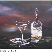 Makers Mark Manhattan - Acrylic on Canvas Spirits art