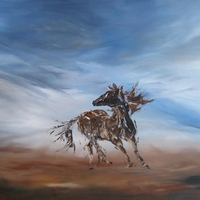 Wild Horse Spirit- Acrylic on Canvas by Jim and Chris